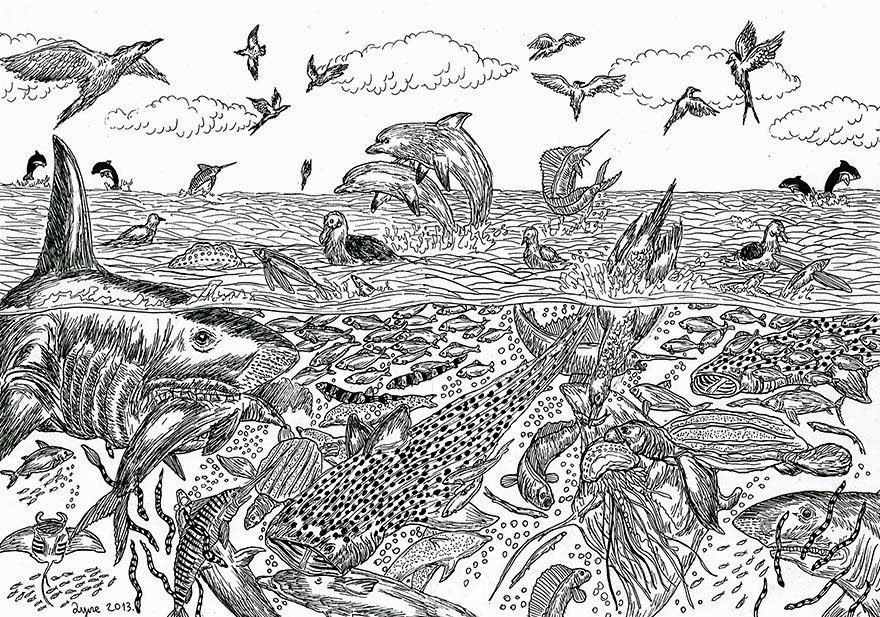 11-Year-Old Child Prodigy Creates Stunningly Detailed Drawings Bursting With Life (1)