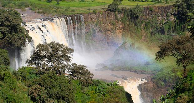 Τα 10 μεγαλύτερα ποτάμια σε μήκος στον κόσμο με φωτογραφίες, Οι καταρράκτες του Μπλε Νείλου στην Αιθιοπία