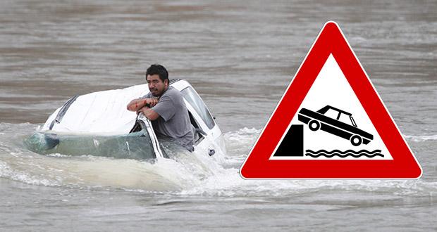 Τι κάνουμε αν το όχημα μας βυθιστεί στο νερό