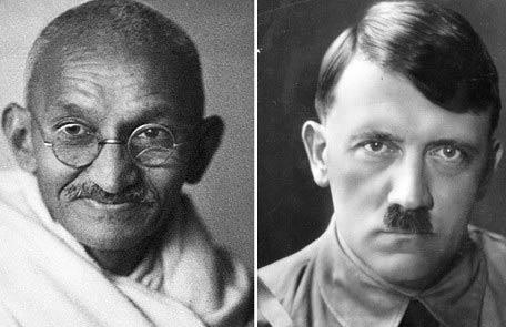 Γκάντι, Χίτλερ. (Ζυγός, Ταύρος αντίστοιχα) Ίσως οι ικανότεροι χειριστές του πλήθους-μάζας στην Ιστορία.